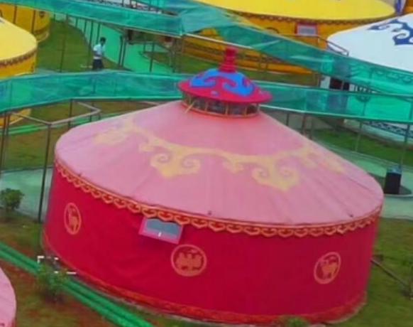 蒙古包批发厂家说说蒙古包毛毡的优点与种类